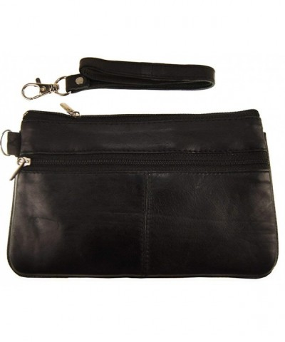Wallets Large Genuine Leather Wristlet