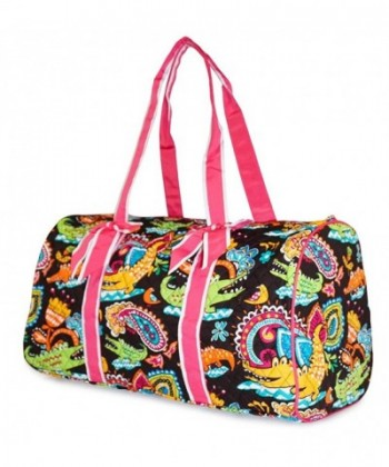 Quilted Travel Duffel Alligator Print