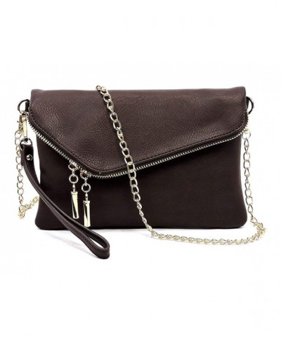Elphis Fashion Envelope Wristlet 023 Brown