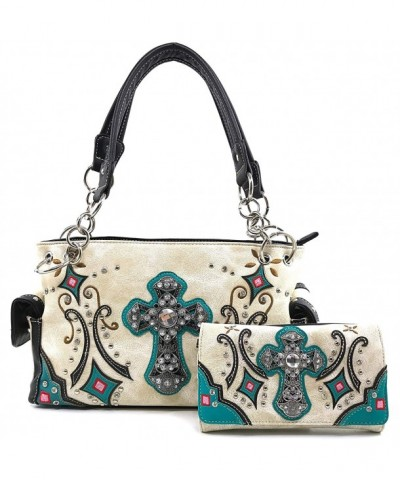 Justin West Embroidery Rhinestone Concealed