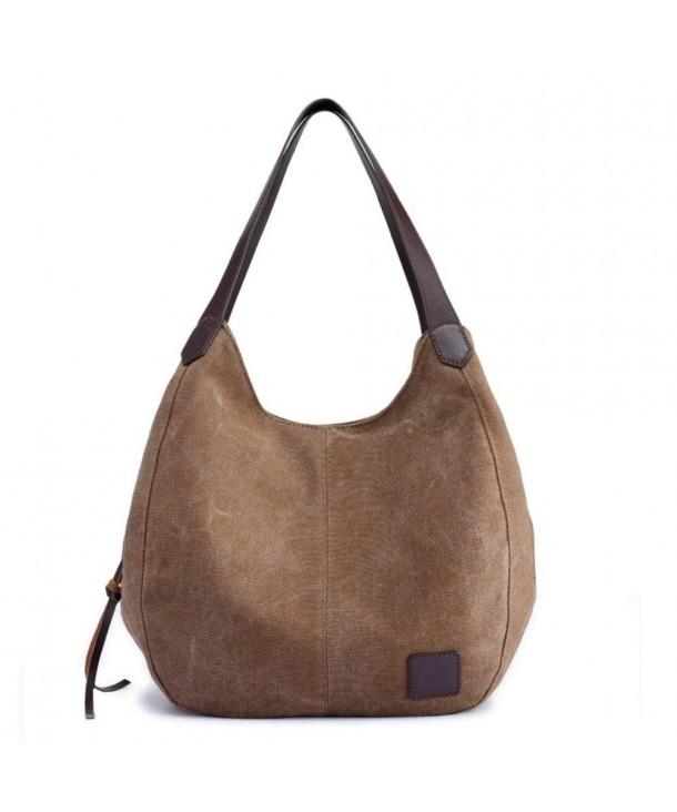 Women s Canvas Shoulder Handbags Ladies Casual Hobo Shopping Bags ... 1d51a8c9b9ec7