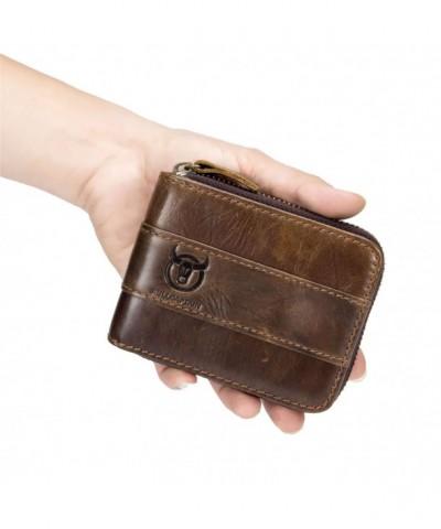 Antimagnetic Vintage Leather Wallet Pocket
