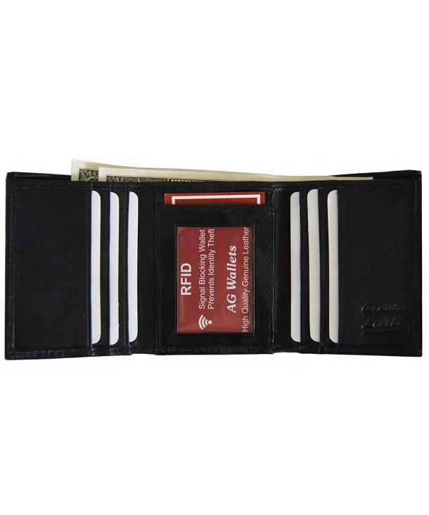 AG Wallets Genuine Leather Trifold