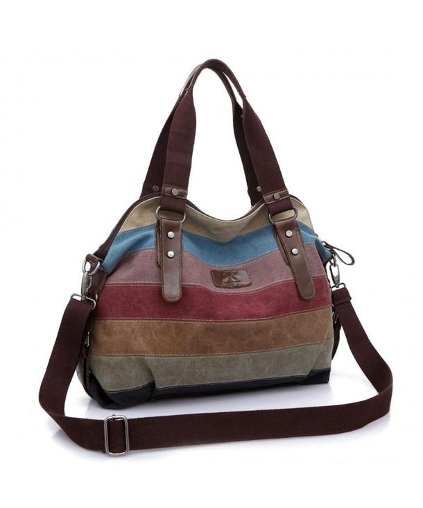 Casual Shopping Shoulder Handbag Striped