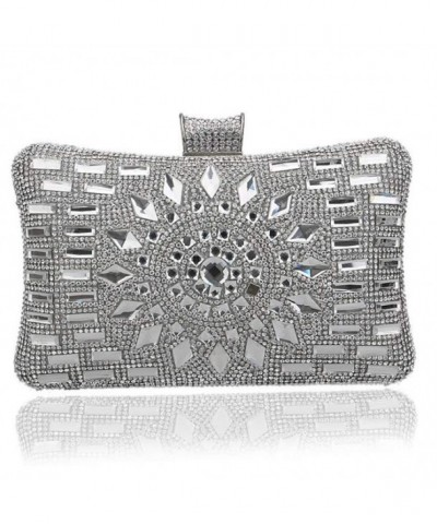 EPLAZA Rhinestone Evening Crystal Handbags