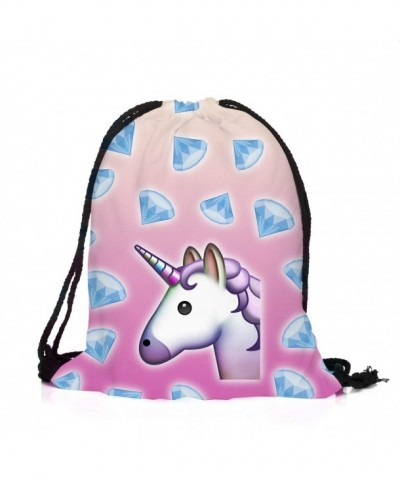 Leahs fashion Schoolbags Unicorns Drawstring