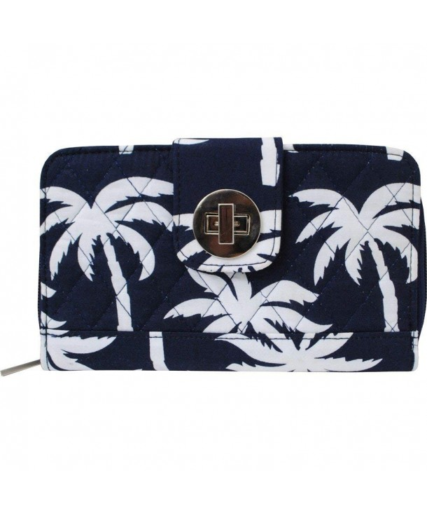 Tropical Print Quilted Twist Wallet