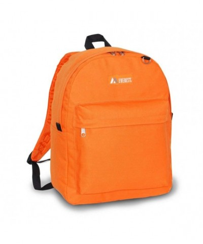 Everest Mens Classic Backpack Orange