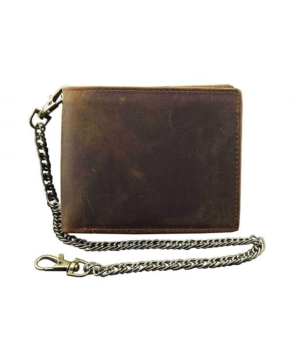 Wallet Chain Leather VINTAGE Holder