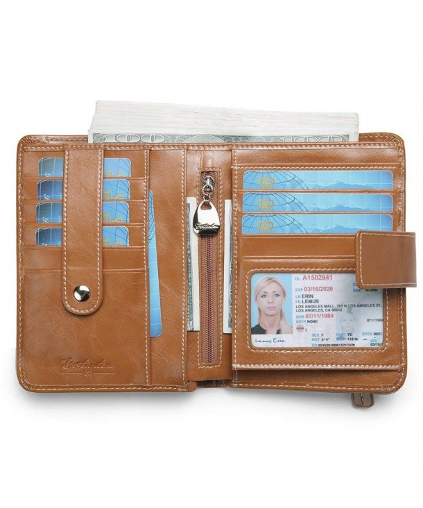 BOSTANTEN Genuine Leather Bi Fold Organizer