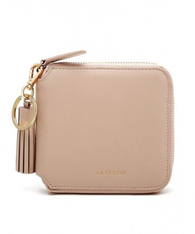 LAFESTIN Womens Zipper Genuine Leather