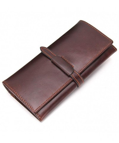 Genuine Leather Bifold Clutch Secretary