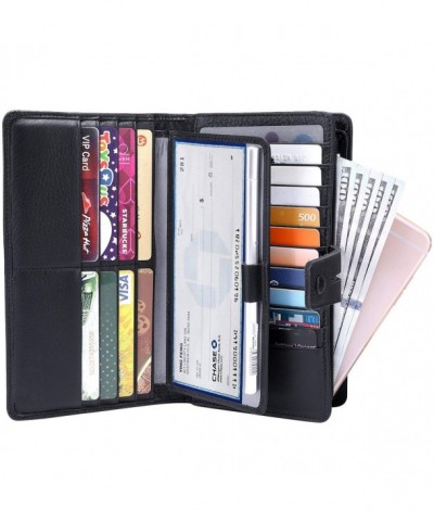 Womens Blocking Leather organizer checkbook