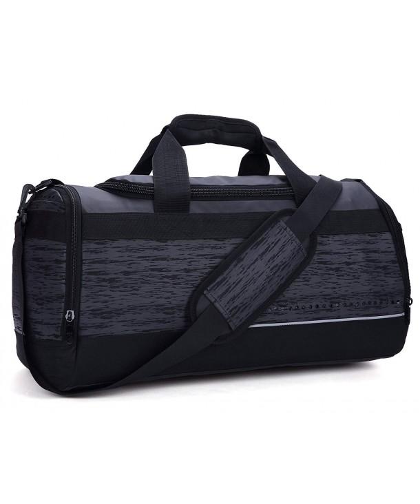 dac8ba4b7acd 20 Inch Gym Bag with Shoe Compartment Men Duffel Bag- Medium- Black - 40L -  CE120NEWAA5