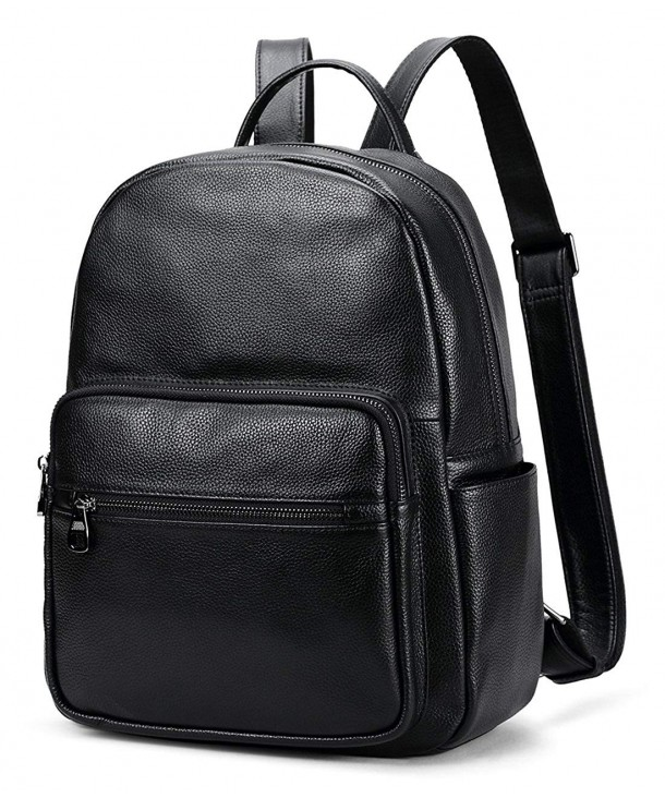 Coolcy Leather Backpack Casual Daypacks