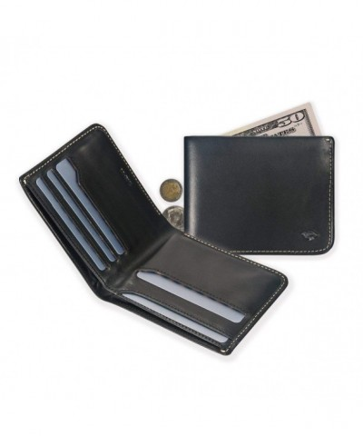 IKEPOD Leather Compact Bifold Billfold