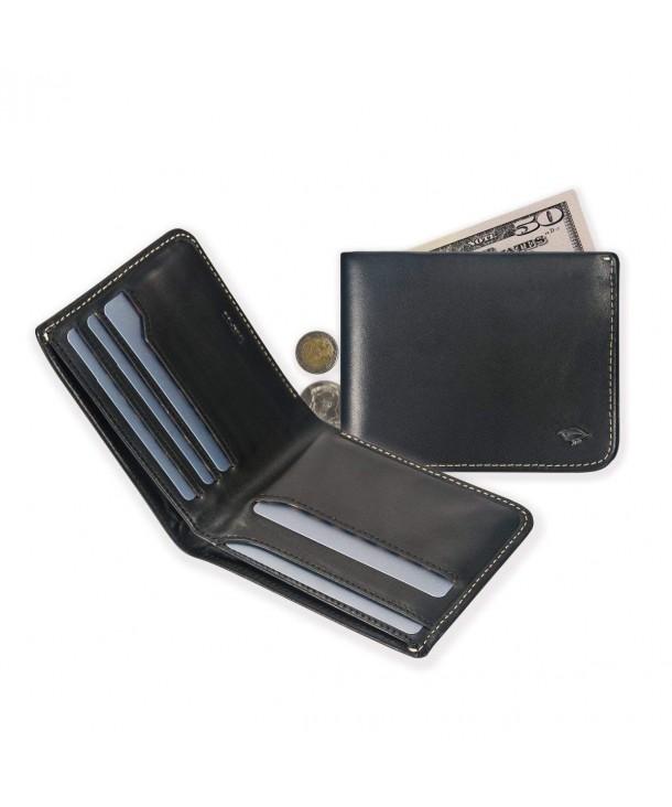 IKEPOD Leather Compact Bifold Billfold