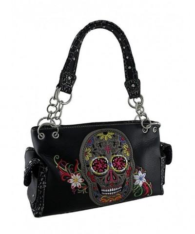 Embroidered Colorful Concealed Shoulder Handbags