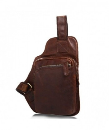 Mayshe Shoulder Backpack Traveling Chocolate