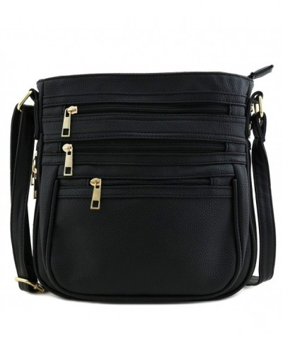 Multi Zipper Pocket Expandable Crossbody