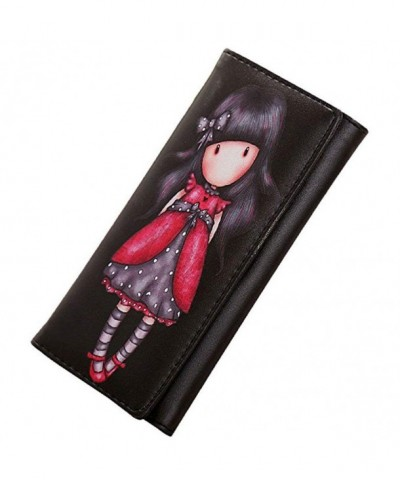 Donalworld Girls Cartoon Leather Wallet