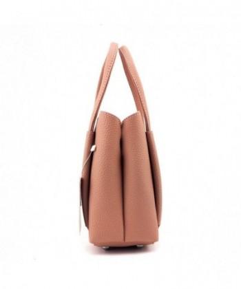 e01cfc8c176ae Women Small Basic PU Leather Fashion Handbag Top-handle Bag Tote Bag  Cross-body Bag - Pink - CU12KV8V6QJ