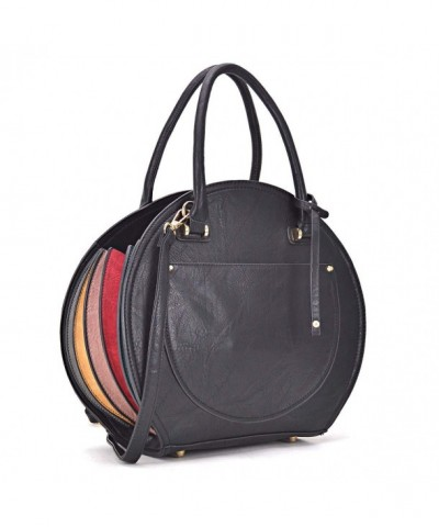 Round Crossbody Shoulder Handle Handbag