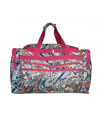 Fashion Print Travel Duffle Paisley
