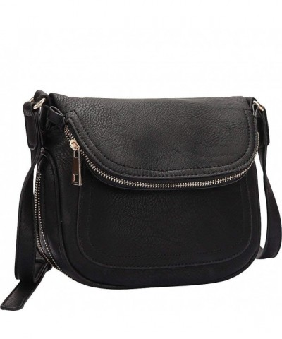 Dasein Front Flap Crossbody Black