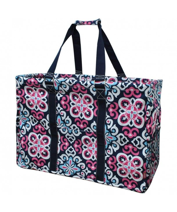 Ikat Damask Print Shopping Utility
