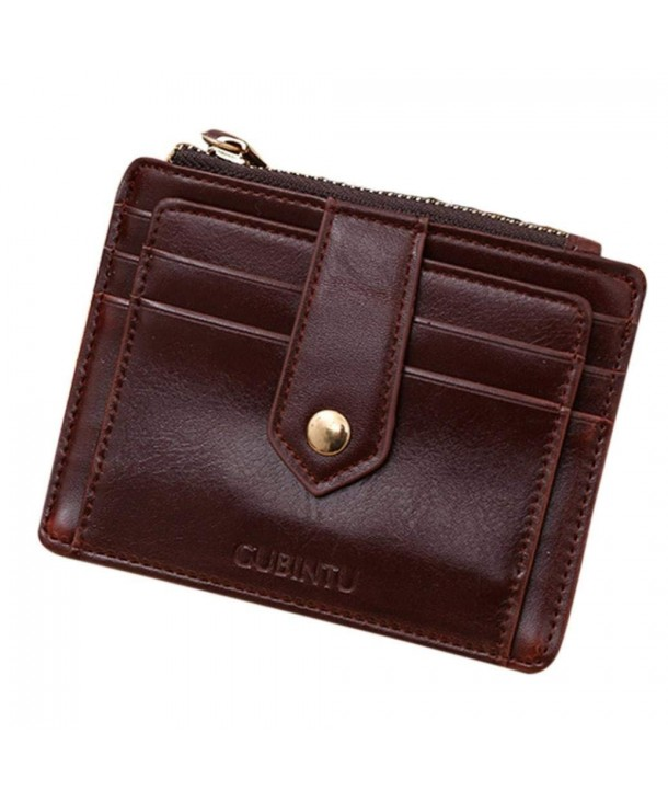 Tosangn Coffee Leather Credit Holder