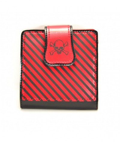 Stripe Crossbone Bifold Rockabilly Wallet