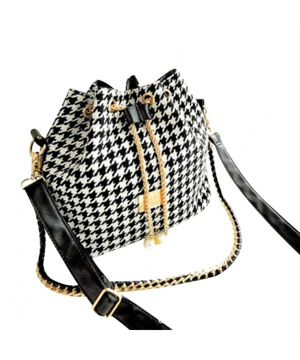 Fashion Printing Houndstooth Shoulder Messenger