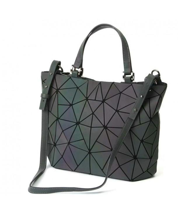 b11e7fc6e582 Women Handbags Geometric Luminous Bag PU Leather Shard Lattice Holographic  Purse Ladies Shoulder Bag - CT18DUQN2AC