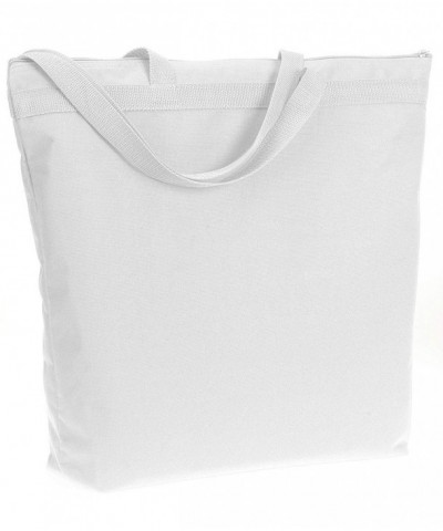 UltraClub Zippered Tote 8802 White