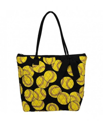 Softball Print NGIL Quilted Tote