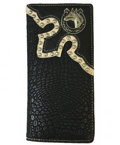Western Cowboy Leather Wallets Crocodile