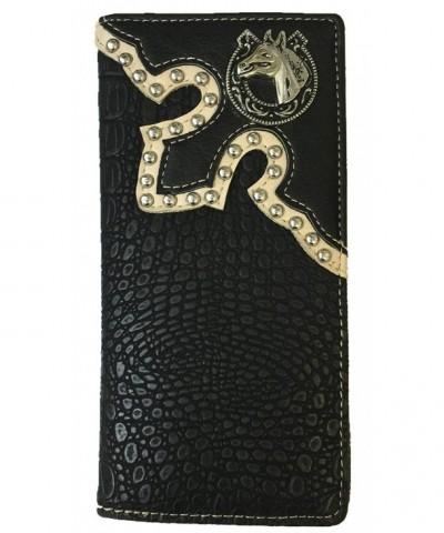Western Cowboy Leather Wallets Crocodile