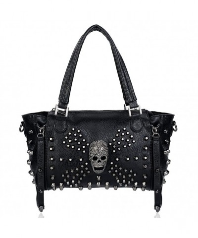 UTO Studded Handbag Leather Shoulder