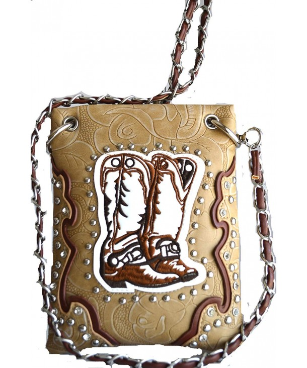 western stitched embossed crossbody messenger