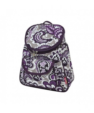 Purple Paisley NGIL Quilted Backpack