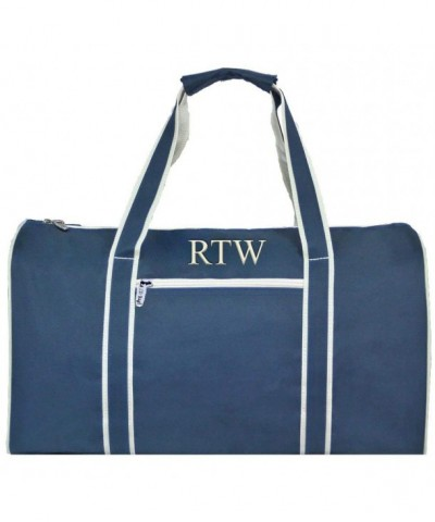 Personalized Unisex Navy Duffle Beige