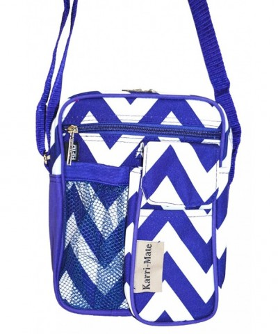 Karri Mate Chevron Hipster Crossbody Purple