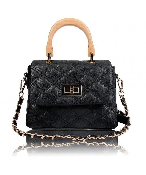 def87d6acae1 Designer Shoulder Bag for Women- Wooden Top Handle Handbag Crossbody ...
