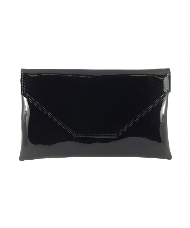 8c308c1dc54e Womens Stylish Large Envelope Patent Clutch Bag Shoulder Bag Wedding ...