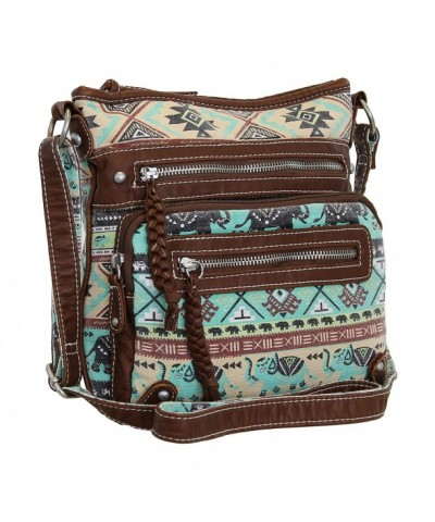Aztec Elephant Print Purse Crossbody