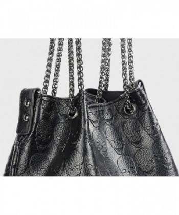 e46e288787b7 Womens Skull Hobo Tote Bag Chain Shoulder Bag Gothic Handbag Set ...