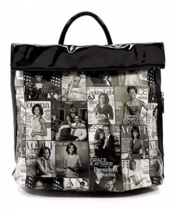 Magazine Collage Motorcycle Backpack Michelle