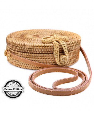 NATURALS Handwoven Rattan Crossbody Genuine