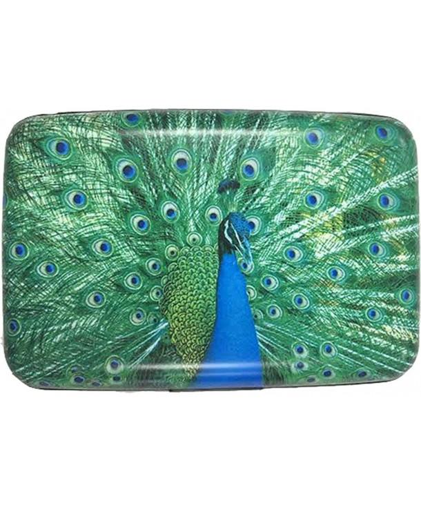 RFID Secure Armored Wallet Peacocks